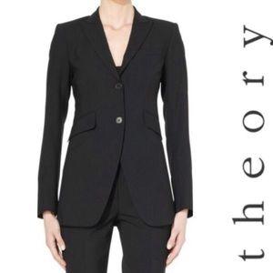 Theory Anorie Broadway Riding Jacket Blazer Black
